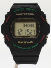 カシオ/クォーツ腕時計/デジタル/ラバー/ブラック