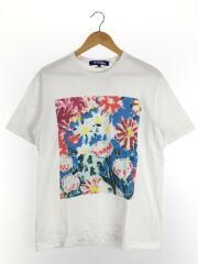 ジュンヤワタナベコムデギャルソンマン/Tシャツ/M/コットン/WHT/ホワイト/花柄
