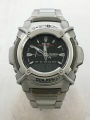 カシオ/クォーツ腕時計・G-SHOCK/デジアナ/ステンレス/シルバー
