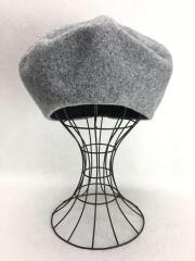 ベレー帽/M/ウール/GRY