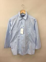 9分袖キューバシャツ/オープンカラーシャツ/M/コットン/ライトブルー/18SS-ROM-M003
