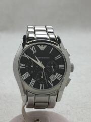 Valente/クォーツ腕時計/クロノグラフ/ベルト・ベゼルキズ/箱コマ説明書有/AR0673