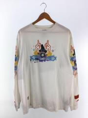 プリントロングスリーブTシャツ/S/コットン/WHT/HMAB002S19600037