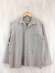 SELVEDGE WEATHER CLOTH SHIRTS/長袖シャツ/4/コットン/BEG/無地