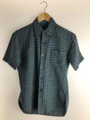 60S/半袖シャツ/M/ウール/ブルー/チェック