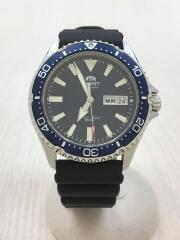 スポーツダイバー/自動巻腕時計/アナログ/ラバー/ブルー/F692-UAA0