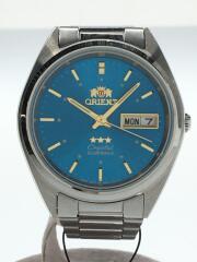 自動巻腕時計/アナログ/ブルー/シルバー/AB00-C0-A