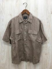 半袖シャツ/L/コットン/ブラウン/9275-6006
