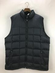 ダウンベスト/XL/ナイロン/ブラック