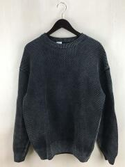 stone wash moss stitch L/S SWEAT/スウェット/2/コットン/グレー/1803-003