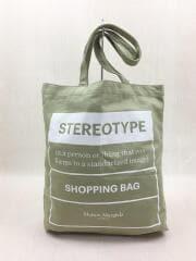 20SS/STEREOTYPE SHOPPING BAG/コットン/グリーン/S55WC0074 PR238