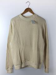 Waffle Mid-neck/長袖Tシャツ/L/コットン/CRM/JM7653
