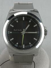 クォーツ腕時計/アナログ/ステンレス/BLK/SLV/6038-H24741/傷有