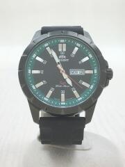 オリエント/クォーツ腕時計/アナログ/ラバー/BLK/UG1X-E0-A