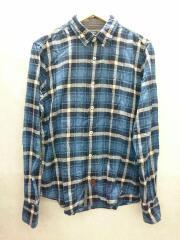 ナパピリ/BDシャツ/M/コットン/BLU/チェック