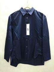 ユニクロ/長袖シャツ/S/コットン/NVY/+J/スーピマコットンオーバーサイズシャツ