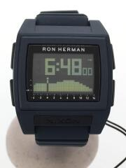 ニクソン/クォーツ腕時計/デジタル/ラバー/NVY/NVY/×RHC Ron Herman