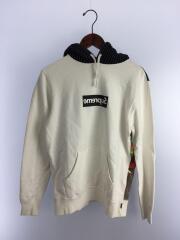 14SS/Box Logo Hooded Sweatshirt/パーカー/S/コットン/WHT