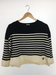ORCIVAL/セーター(薄手)/FREE/ウール/ブラック/ボーダー