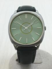 クォーツ腕時計/アナログ/レザー/グリーン/5530-F52240/状態考慮
