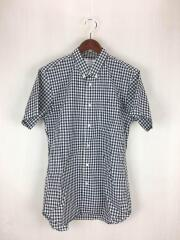 コムデギャルソンシャツ/半袖シャツ/L/コットン/ブラック/ギンガムチェック/CDGS8GG