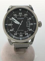シチズン/Eco-Drive/ソーラー腕時計/アナログ/ブラック/シルバー/J810-S090822