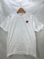 Tシャツ/XL/コットン/WHT/AD2019/ハート/ワンポイント