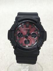 ソーラー腕時計・G-SHOCK/デジアナ/ラバー/RED/BLK/GAW-100AR