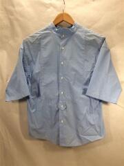 半袖ブラウス/XS/コットン/BLU/17ss/suvin typewriter shirt