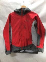 1106385/クリマプロ200 ノマドパーカ/M/ポリエステル/RED/右袖ヨゴレ有