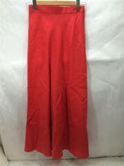 20SSリネンロングスカート/40/リネン/RED1524-162-4763