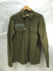 70s/フィールドシャツ/S/ウール/KHK/DSA100-77-3-1554