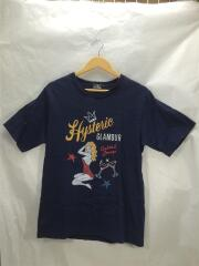 COCKTAIL LOUNGE TEE/Tシャツ/M/コットン/NVY/ヒステリックグラマー