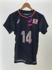 2053A085 全日本男子ユニフォーム/スポーツウェアー/M/BLK/ASICS