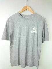 Tシャツ/S/コットン/GRY/無地