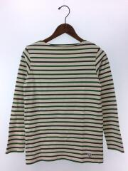 長袖Tシャツ/2/コットン/GRN/ボーダー