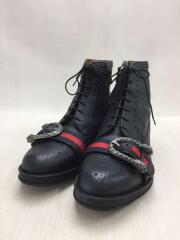 ブーツ/UK10.5/BLK/レザー