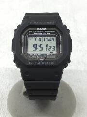 ソーラー腕時計・G-SHOCK/デジタル/ラバー/GRY/BLK