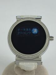 スマートウォッチ/デジタル/レザー/WHT/DW5B