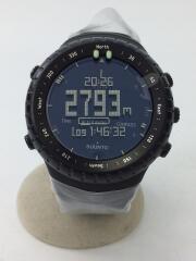 CORE ALLBLACK/クォーツ腕時計/デジタル/ラバー/BLK/BLK