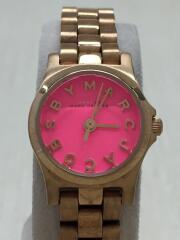 クォーツ腕時計/アナログ/ステンレス/PNK/GLD/MBM3203