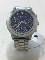 クォーツ腕時計/アナログ/ステンレス/BLU/SLV/V654-6100