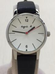 VJ21-KF40/クォーツ腕時計/アナログ/WHT/BLK