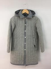 キルティングジャケット/コート/36/ウール/GRY