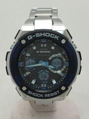 GST-W1000/G-STEEL/ソーラー腕時計・G-SHOCK/デジアナ/BLU/ジーショック