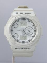 腕時計/デジアナ/ラバー/WHT/WHT