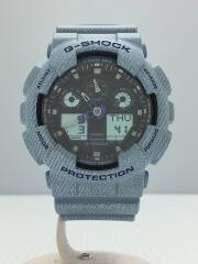 腕時計/デジタル/ラバー/BLK/BLU