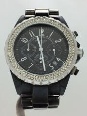 クォーツ腕時計/14911/アナログ/ステンレス/BLK/BLK