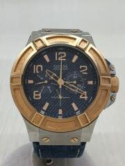 クォーツ腕時計/アナログ/W0040G6/BLU/BLU