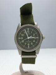 クォーツ腕時計/7N01-0KN0/アナログ/ナイロン/GRN/GRN